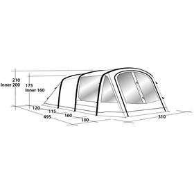 Outwell Rosedale 5PA Tente, petrol